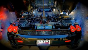 Ferrari Enzo engine bay by MercilessOne