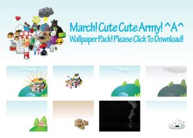 Cute Cute Army Wallpack by axii