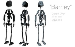 Barney the Robot 3D by HaagNDaaz