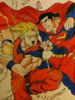 GOKU vs SUPERMAN by Dericules