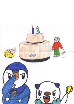 Piplup's bomb cake! by sims123sims