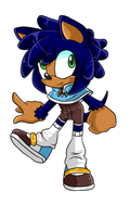 Monkey Khan X Sonic Fan Child .:Female:. by VeggieMadness