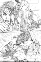 Pencil Samples - Wonder Woman 2 by LucianoVecchio