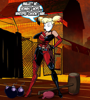Commission: Harley Quinn's Weapon of Choice by grimphantom