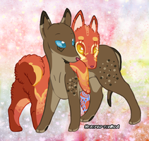 Mordecai And Lilith Pups by Striped-Tie