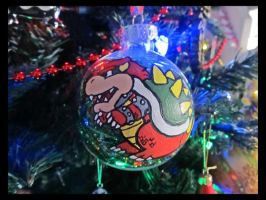 Bowser Christmas Ball Ornament by Leara