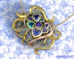 3D Bluetiful heart pendant by BrotherlyFluff
