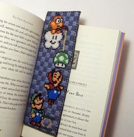 Super Mario Bookmark X-Stitch by Shellfx