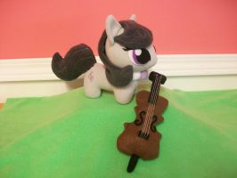 Octavia and her Cello MLP Plushies by happybunny86
