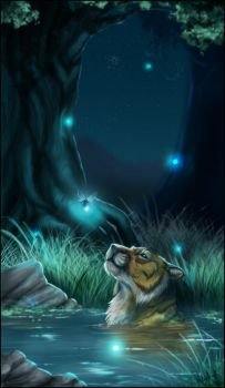 Tranquility - MoonsongWolf by Kaylink