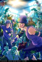 Roller girls VS zombies by Tohad