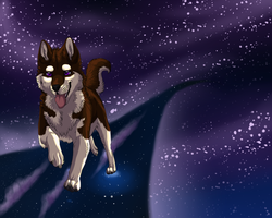 Space dog by xPatronus