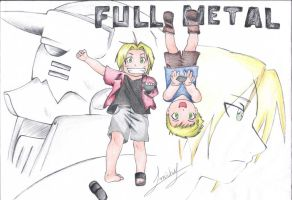 Full Metal -  Edward and Alphonse by Micheloko