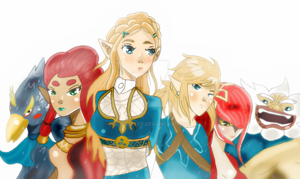 The Legend of Zelda Breath of the Wild Characters by Bubblesyt