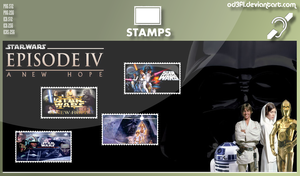 Stamps - 1977 - Star Wars Episode 4 A New Hope by od3f1