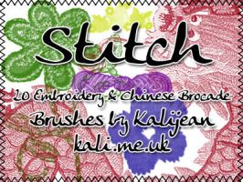 Stitch - Embroidery Brushes by kalijean