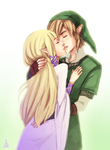 Skyward Sword: Kiss by Renuski