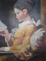 Replica: Young Girl Reading by Villacious