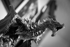 Skyrim Collectors Dragon by elektrikheat