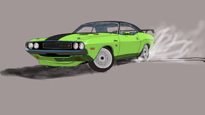1971 drift challenger by CrimsonJersey