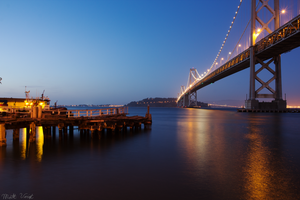 The Bay Bridge During Blue Hour by Camel51