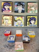 Sailor Moon Boxes set by dragondoodle