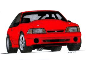 1993 Ford Mustang Cobra Drawing by Vertualissimo