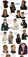 EVEN MORE DISHONORED DOODLES by AgentDax
