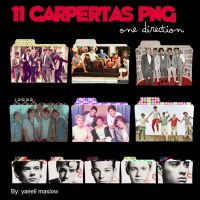 Pack 11 carpetas PNG de One Direction by YaeellMaslow