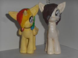 Paints and Stephanie Clay Figures by nyan-cat-luver2000