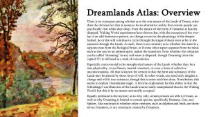 Dreamlands Atlas: Overview by TeamGirl-Differel