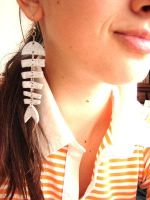 Fish Bones Earring - inezzitah by Cute-Craft
