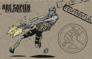Breaktime: Abe Sapien by Andrew-Ross-MacLean