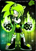 carla  the dark hedgehog (sonic battle) by Dark-Terios