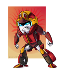 Angry little Tridouser chibi by encune