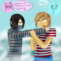 Zane and Laurance fighting by ChronoWither