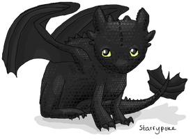 Night Fury-Toothless Dragon by Starrypoke