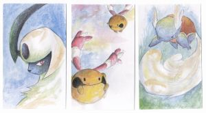 Watercolor Pokemon by Mictono