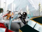 Legend of Korra: The Winter Soldier: Bridge fight by Omnipotrent