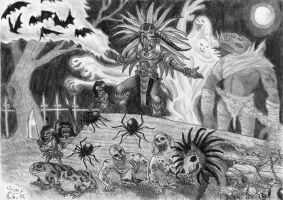 Witch Doctor and friends by Fernoll