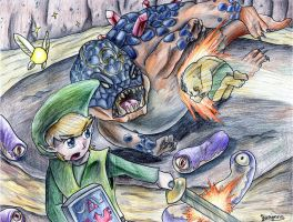 Link vs Dongorongo by yurionna