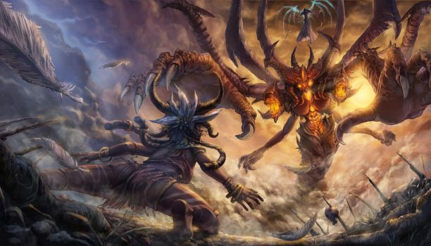 Diablo 3 witch doctor confrontation by sithsensui