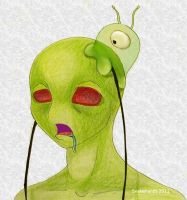 Invader Zim has a brain slug by snakehands