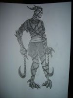 Barbed wire demon mummy thing by SuperScoobyGirl