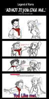 LoK: Makorra~Admit it, you like me by LittleMissSquiggles