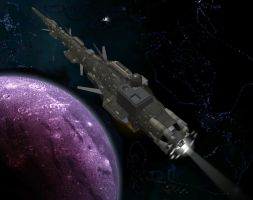Electronic Warfare Starship by OrionShipworks