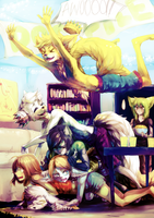 Dog Pile by Jotaku