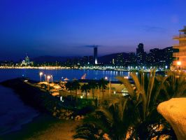 Benidorm at night by Meireis