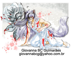 Silver Rose in Blood by giovannag