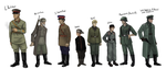 Characters on the project Stalingrad by Dino-kLeo